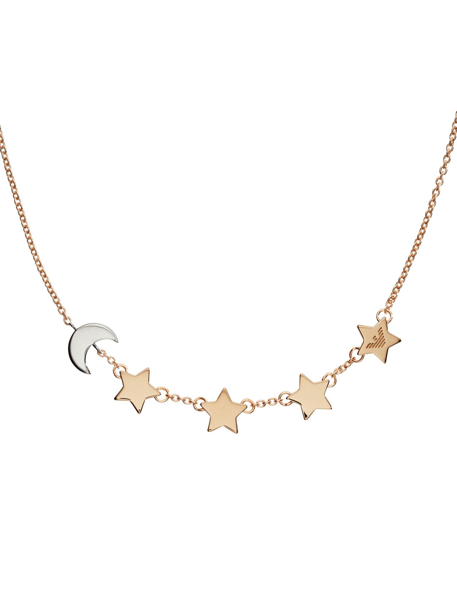 Wählen Sie für offizielle Super süße neue sorten Emporio Armani EG3363221 Damen Kette Mond Sterne Bicolor Rose 44 cm | City  Juwelier Markenuhren und Markenschmuck