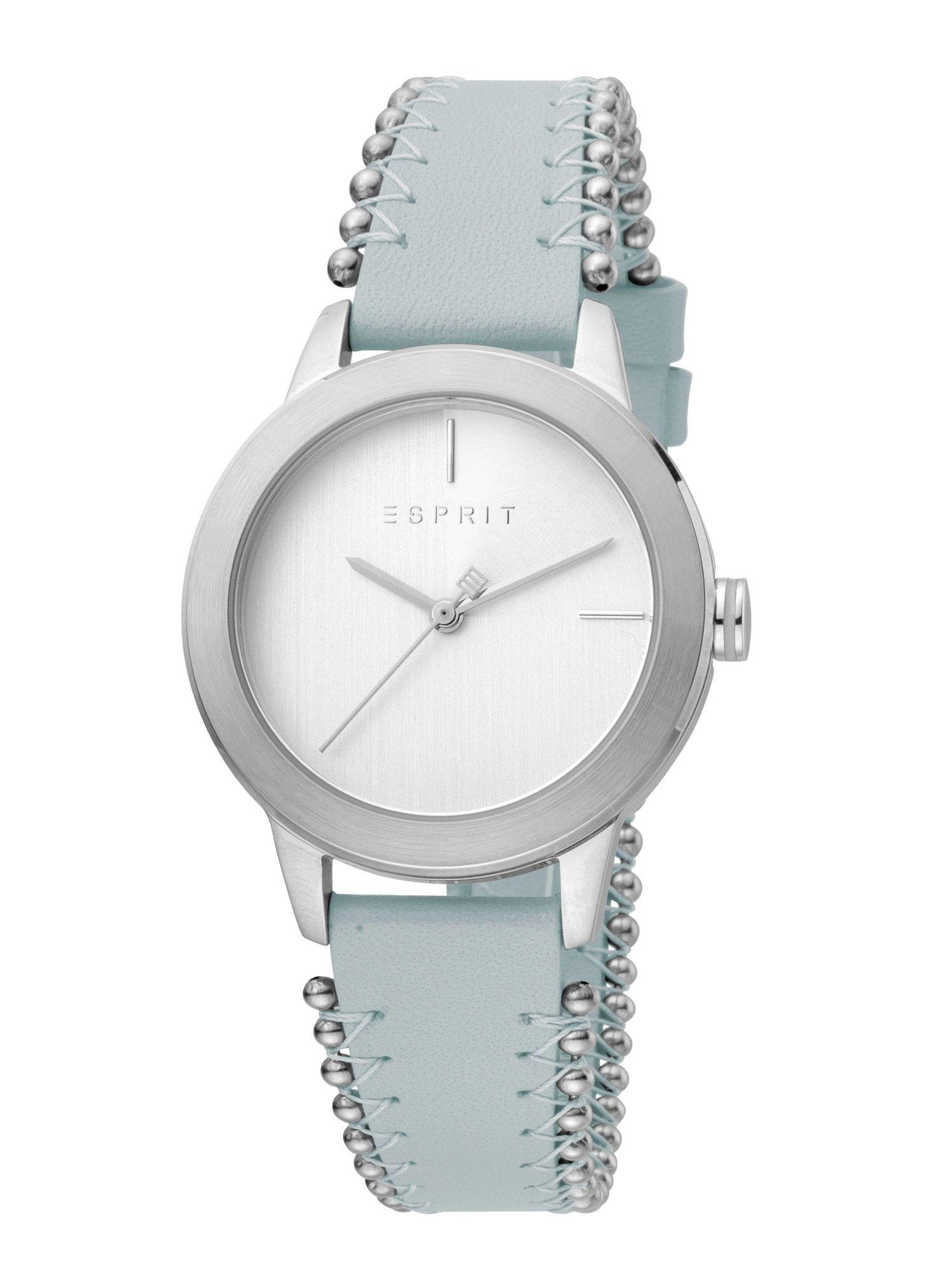 Esprit ES1L105L0035 Bloom Perls Uhr Damenuhr Lederarmband Blau