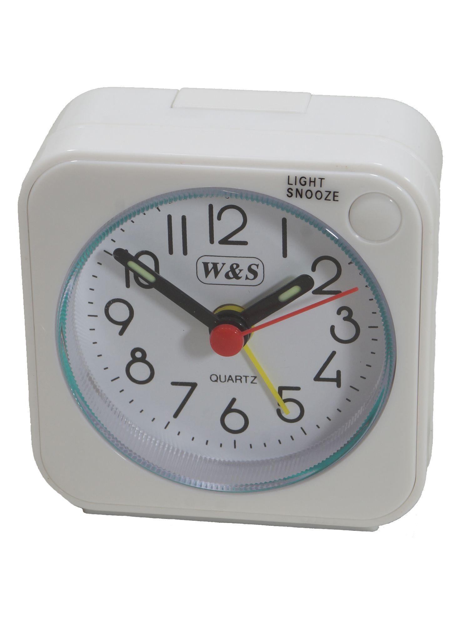 W&S 2016100-weiß Wecker Uhr Alarm Weiss