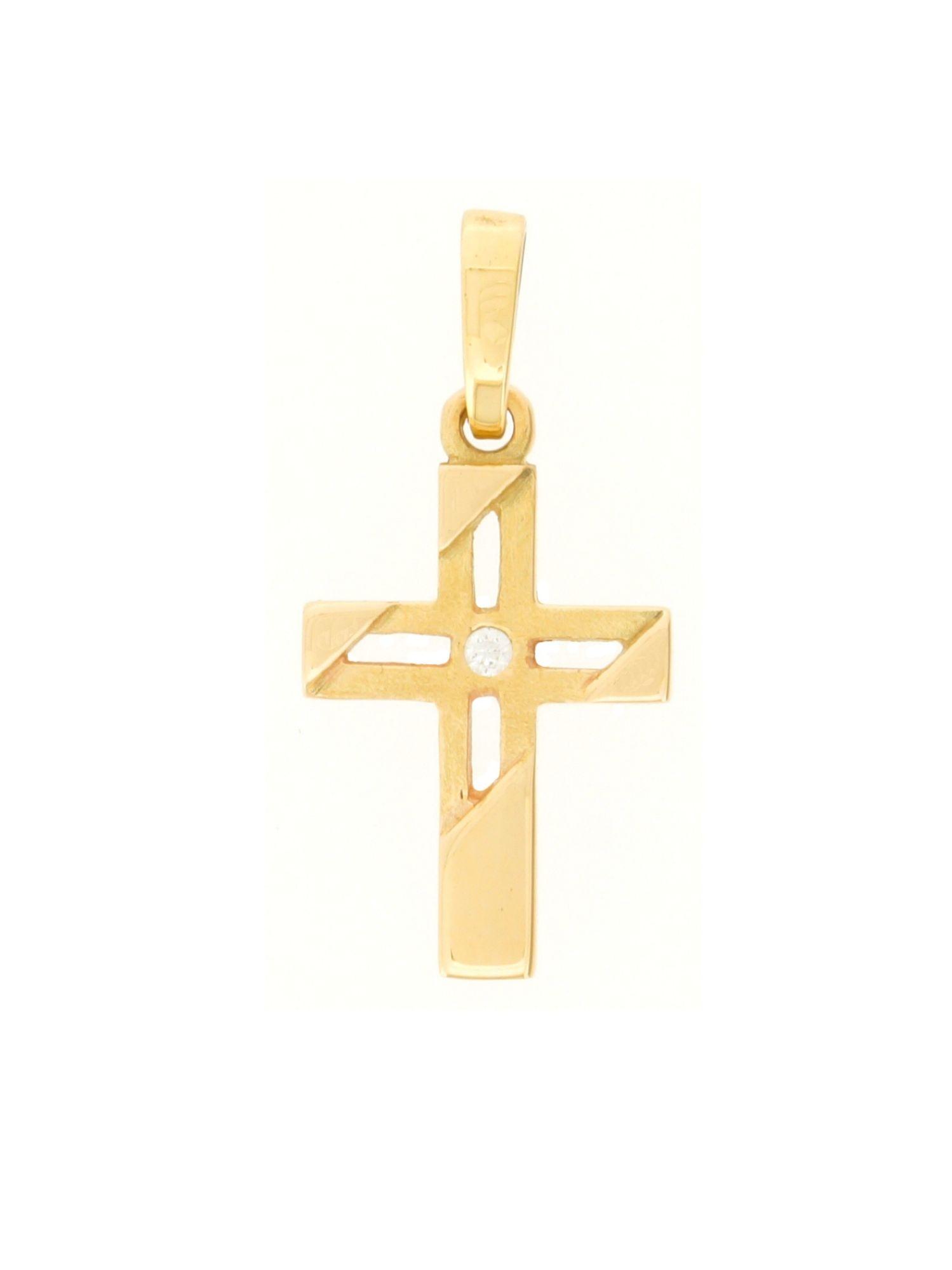 Gerry Eder 27.9184  Anhänger Kreuz 14 Karat (585) Gelbgold Gold Weiß