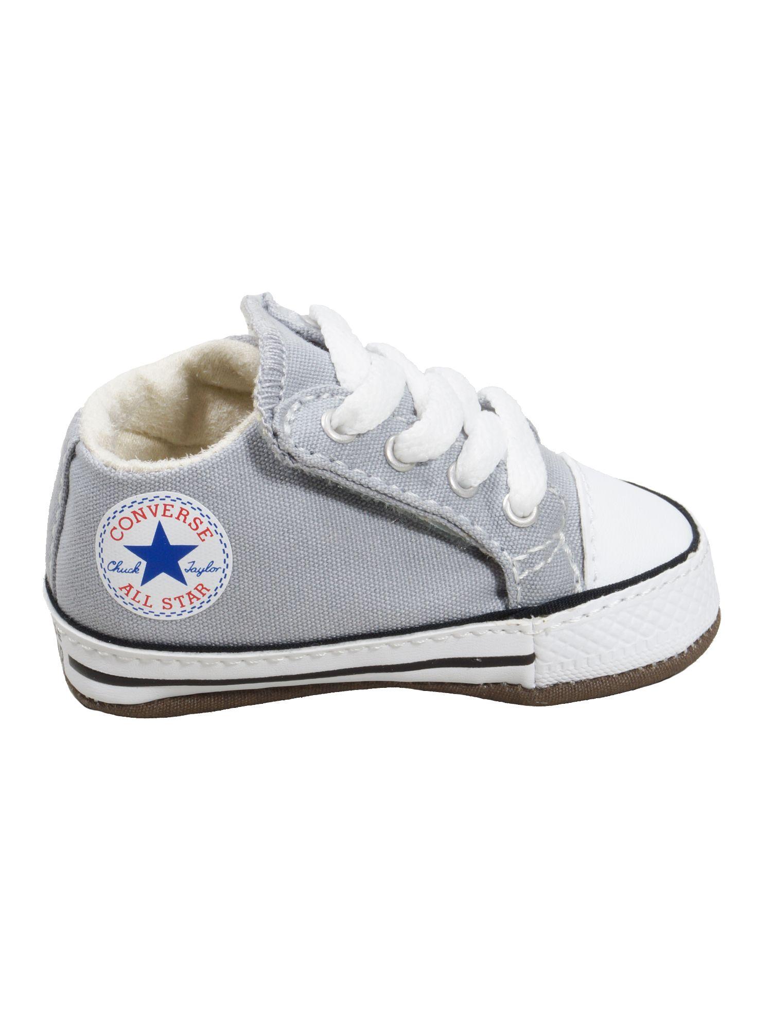 Converse Baby Kinder Schuhe CT All Star Cribster Mid Grau Leinen 18 EU | starlabels outdoor lifestyle leder