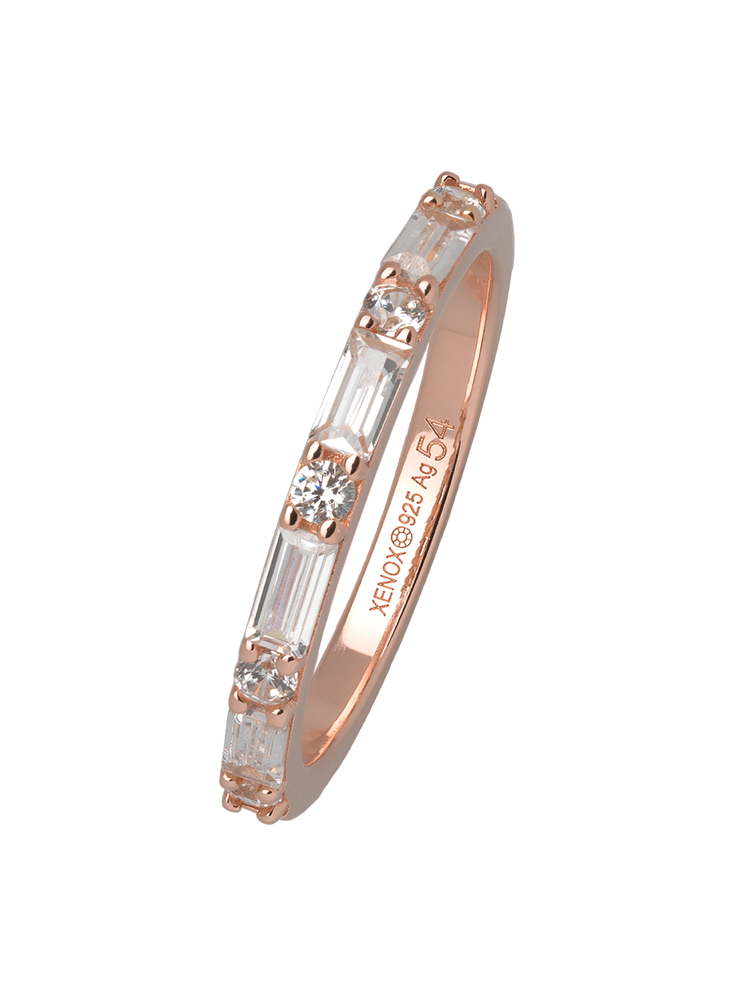 XENOX XS1970R/54 Damen Ring Silber 925 Rose weiß 54 (17.2)