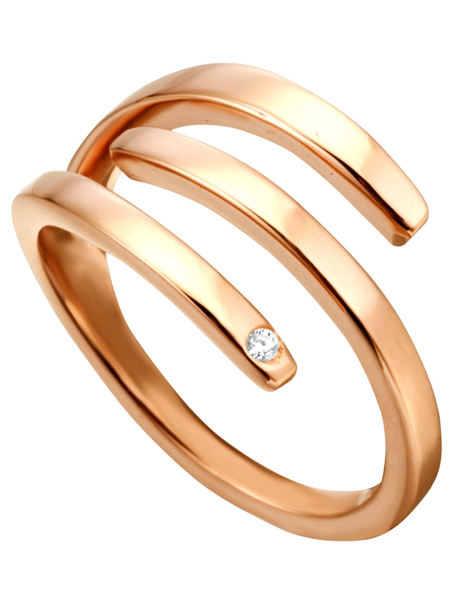 Esprit ESRG00161617 Damen Ring Silber 925 Rose weiß 53 (16.9)