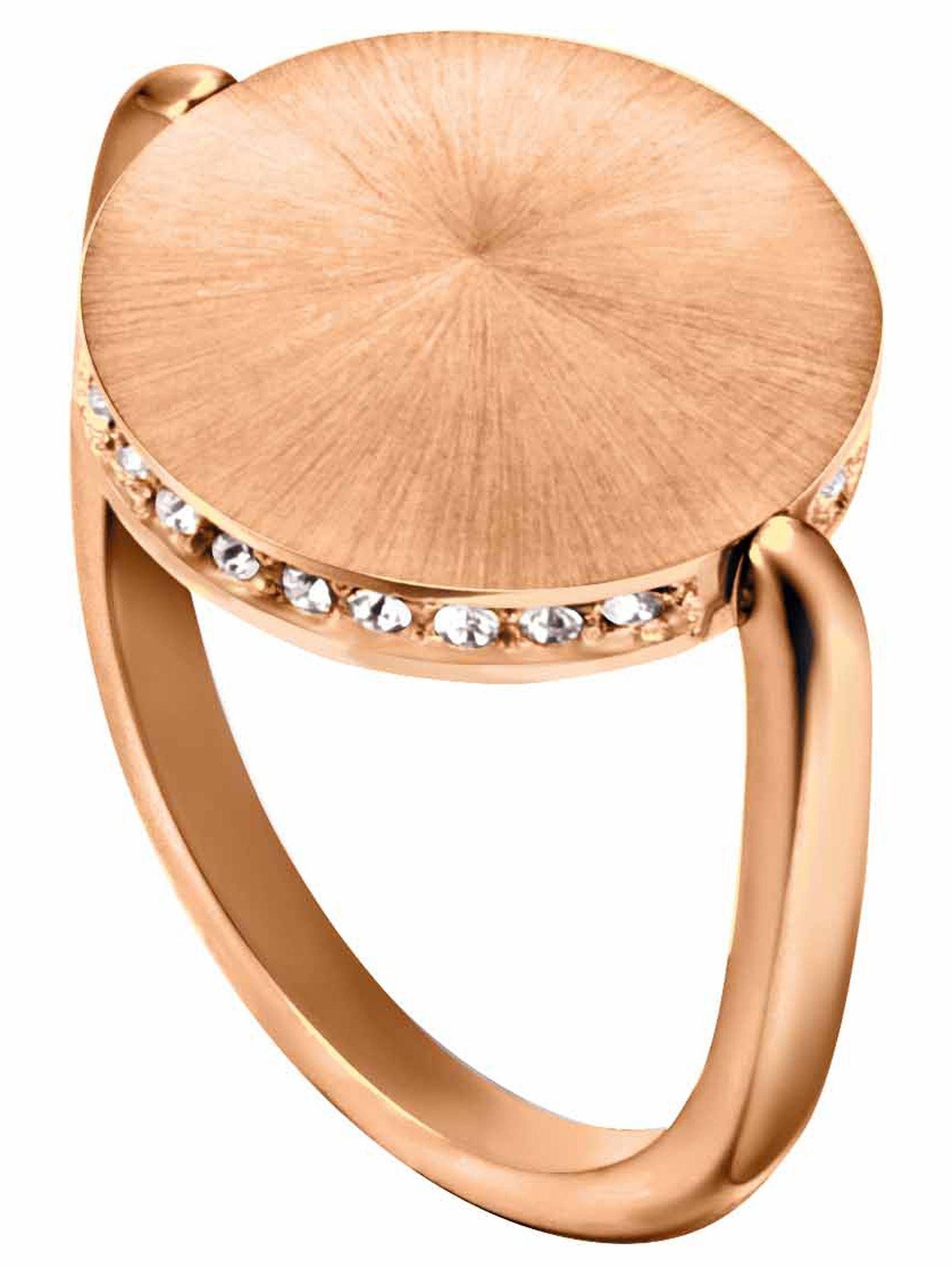 Esprit ESRG00022217 Damen Ring Edelstahl Rose weiß 53 (16.9)