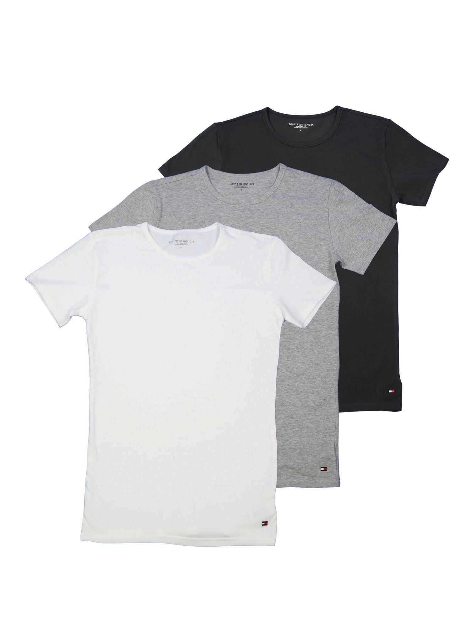 Tommy Hilfiger Herren T-Shirt Kurzarm CN Tee 3er Pack Premium XXL