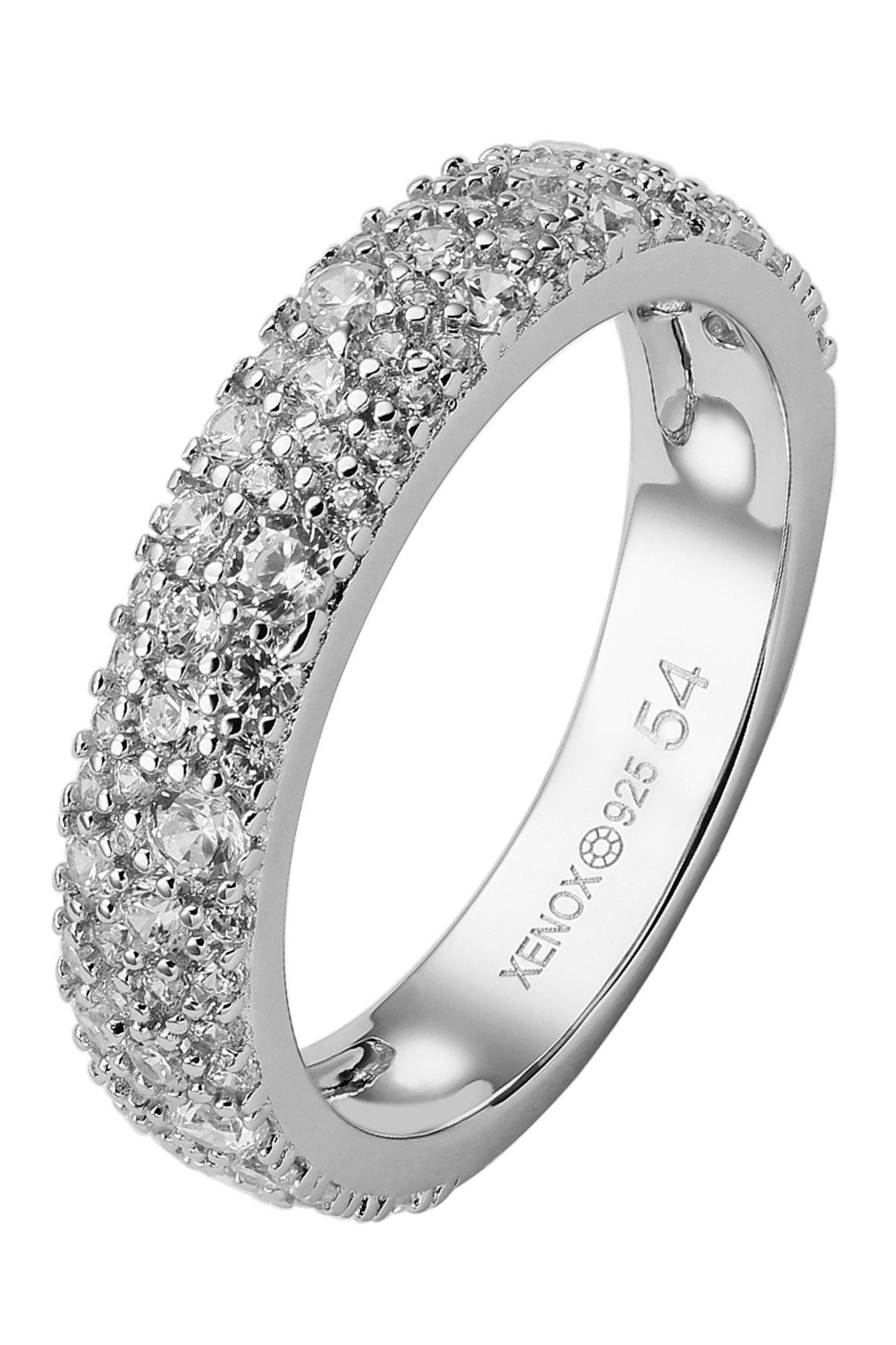 XENOX XS2029/54 Damen Ring Sterling-Silber 925 Silber weiß 54 (17.2)