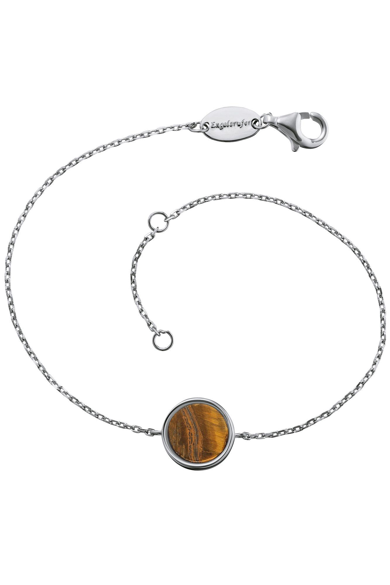 Engelsrufer ERB-LILGEM-TE Damen Armband Powerful Stone Braun 19 cm