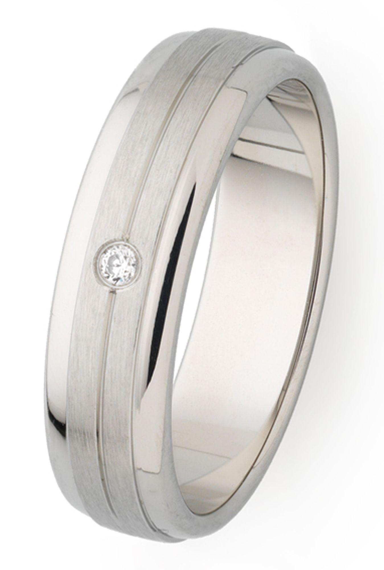 XENOX X2547/56 Damen Ring Edelstahl Silber weiß 56 (17.8)