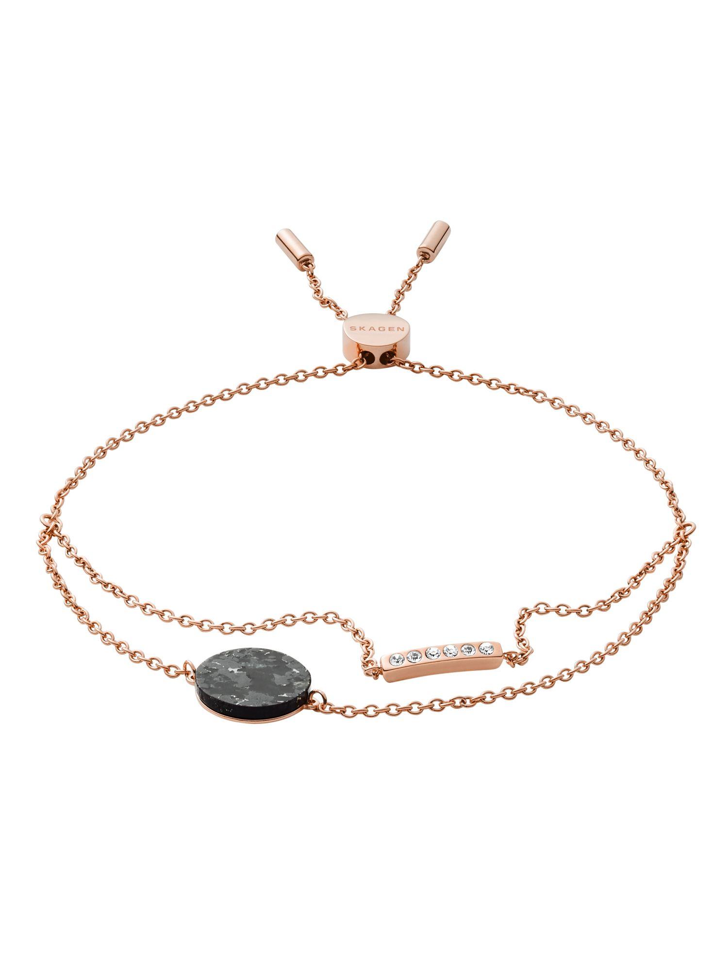 Skagen SKJ1378791 Damen Armband ELLEN Edelstahl Rose schwarz 21,5 cm