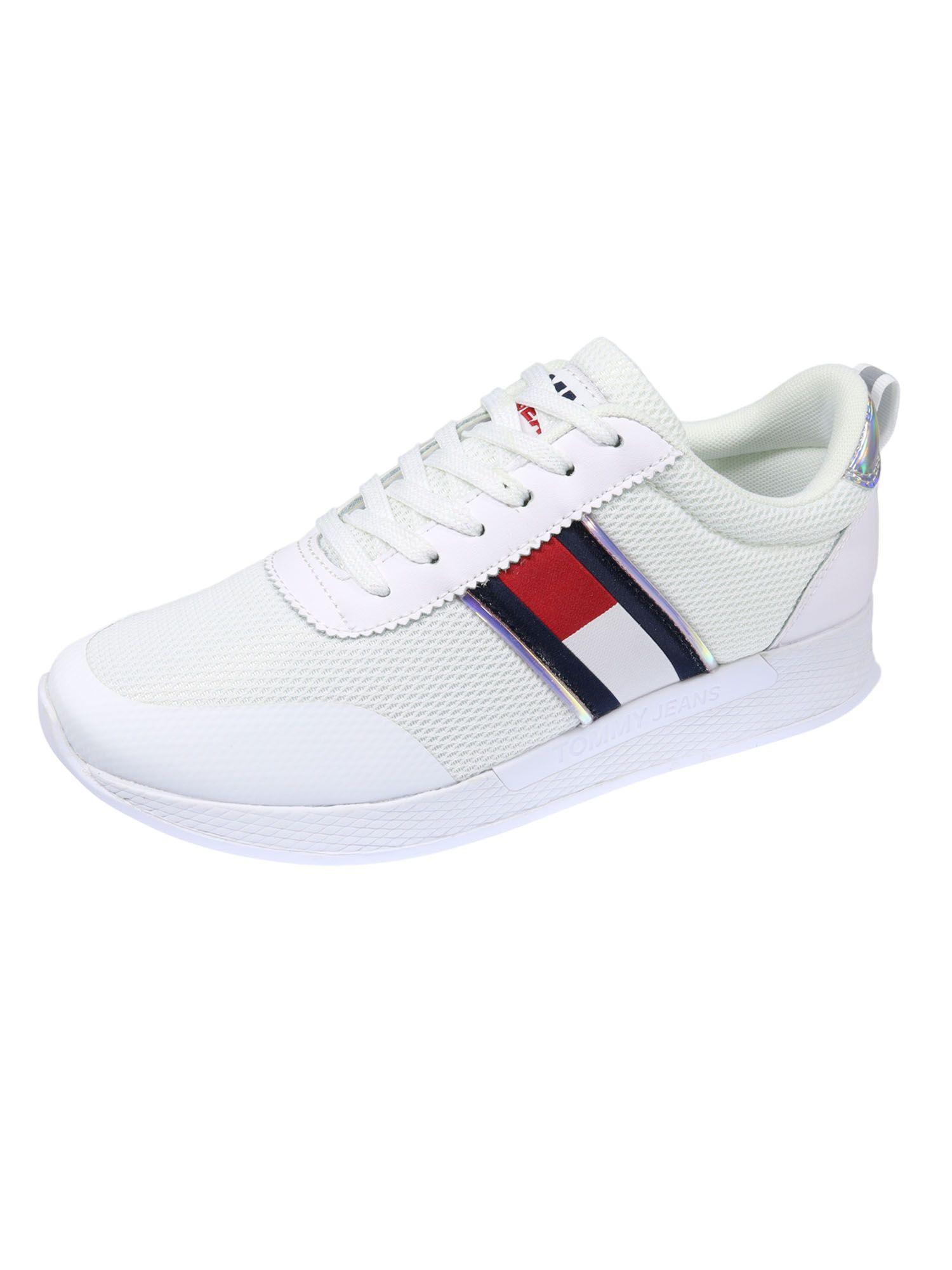 Tommy Hilfiger Damen Schuhe Technical Flexi Sneaker Weiß Sneakers 38