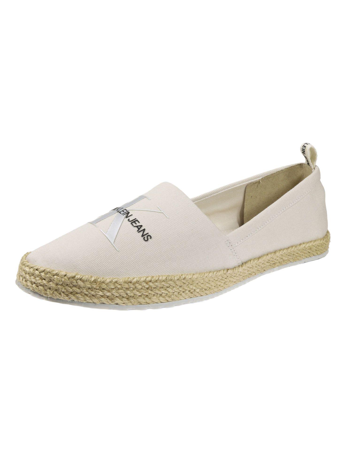 Calvin Klein Damen Schuhe Espandrille Printed Beige Slipper 36 EU