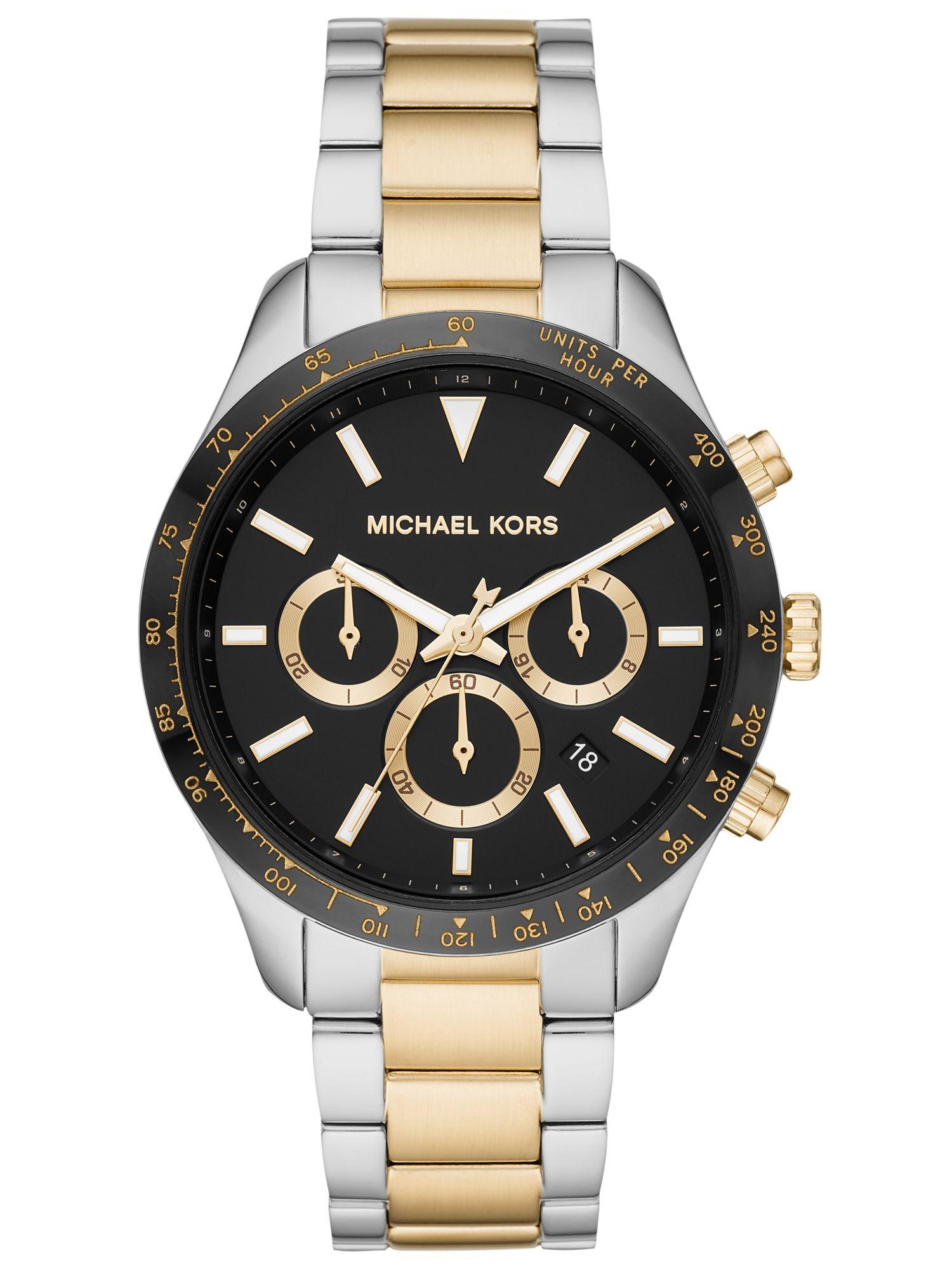 Michael Kors MK6835 Uhr Herrenuhr Edelstahl Chrono Datum bicolor