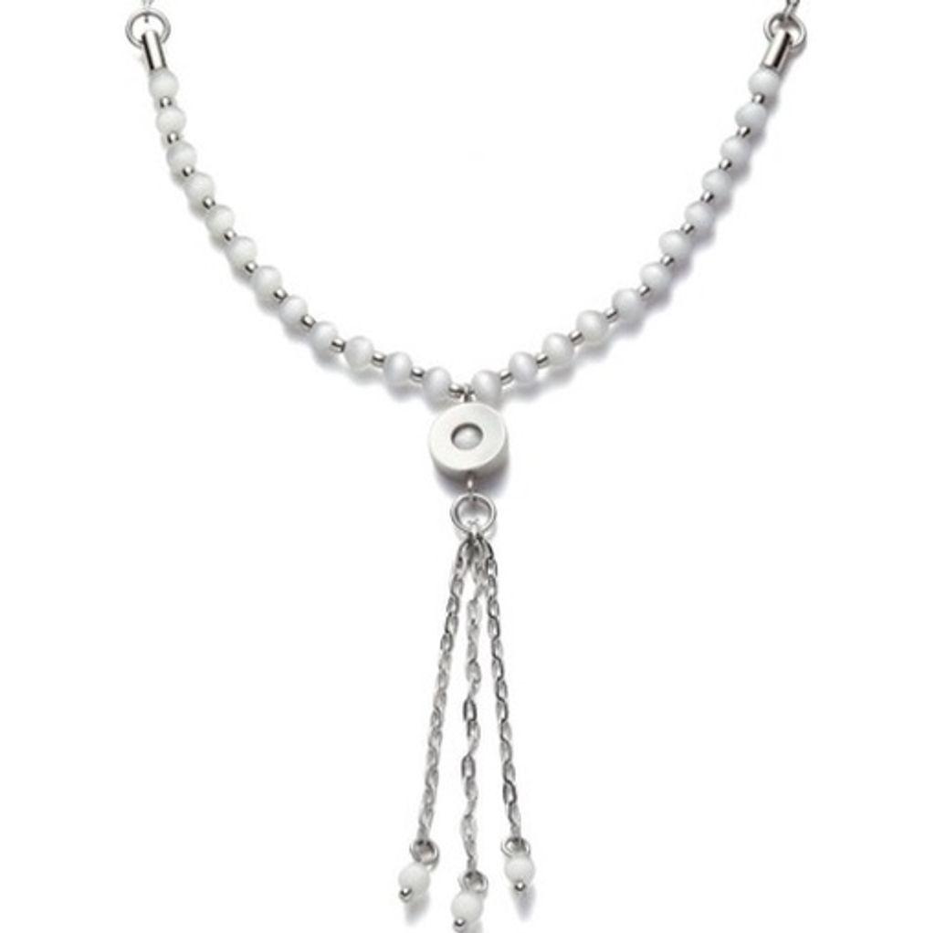 Leonardo 013174 Damen Collier essentials basic Cateye-Perlen weiß