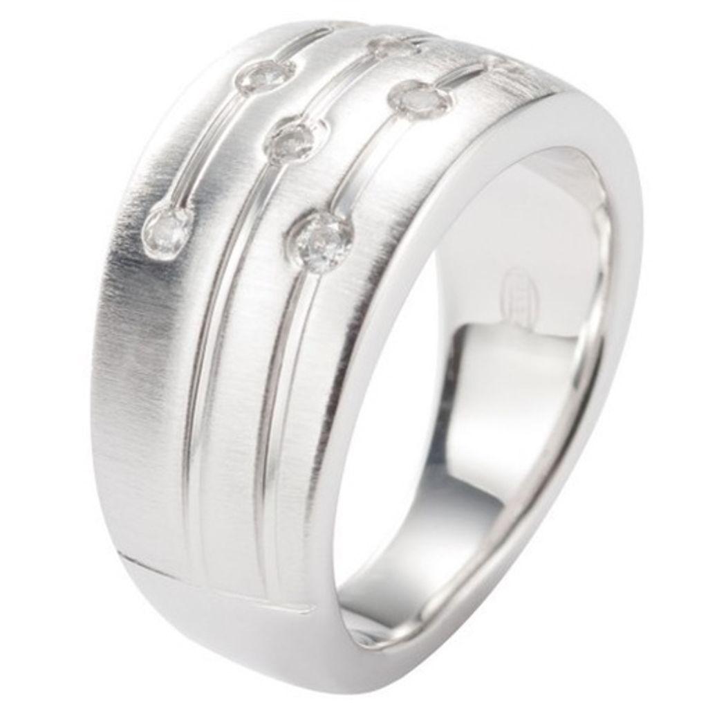 Fossil JF15789 Damen Ring JF 15789 Silber Zirkonia weiß Gr.53 (17 mm)