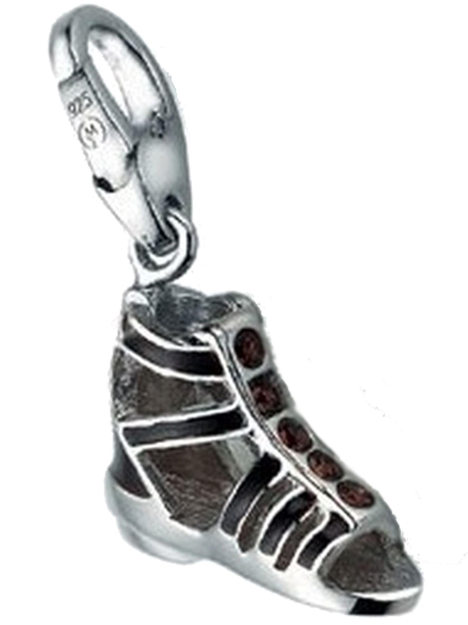 Giorgio Martello 1130-815389 Charms Damen Charm Silber Römersandale braun Glasstein braun