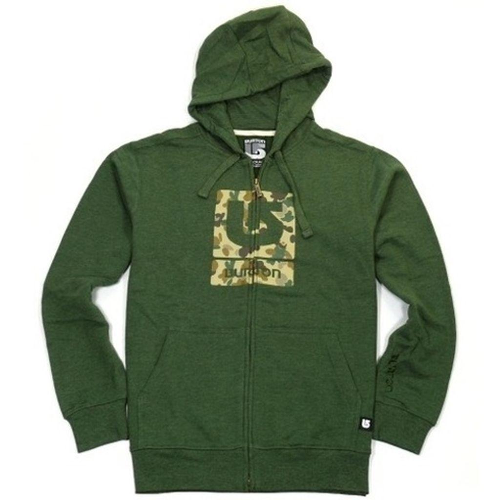 Burton Jacke Herren Sweat Jacke 257553-309 Logo Fill Grün Gr. S