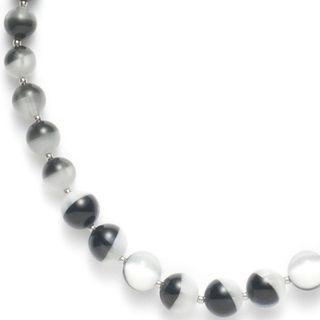 Leonardo 013396 Damen Collier Stahl Halskette grey beauty pearl 80 cm Glassteine grau