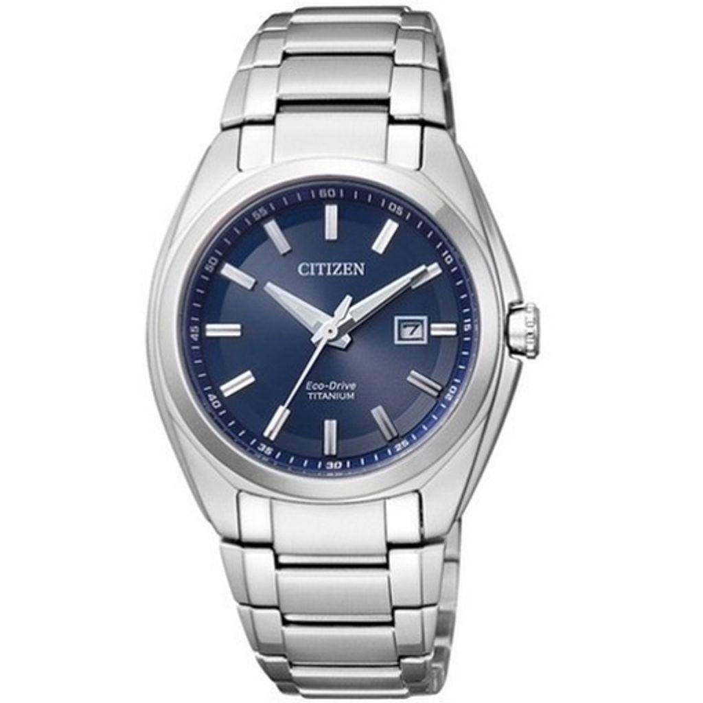 Citizen EW2210-53L Eco Drive  Uhr Damenuhr Titan Datum blau