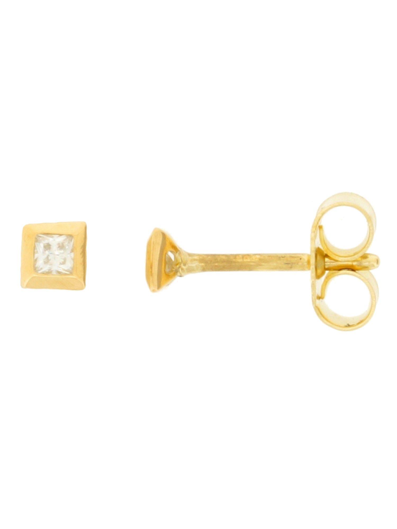 Gerry Eder 01.9942  Ohrstecker 14 Karat (585) Gelbgold Gold Weiß