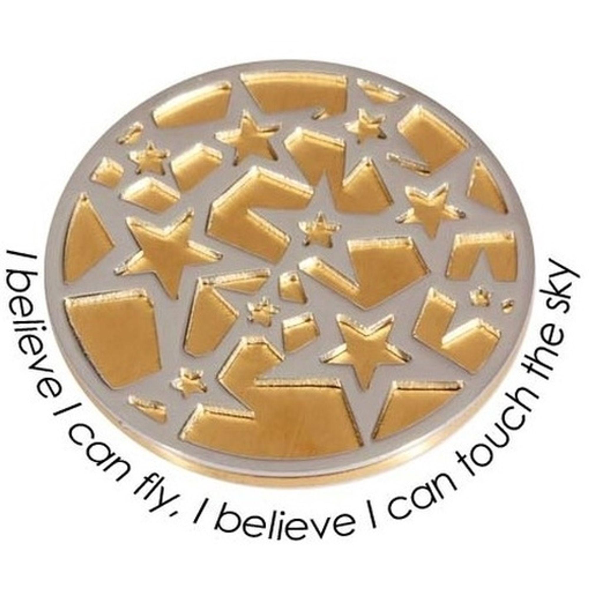 Quoins QMOD-05L-G Münze Higher dimension large Stern gold