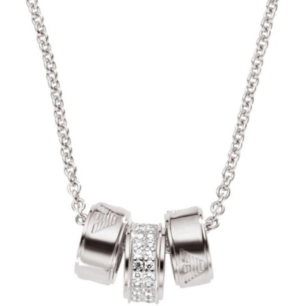 Emporio Armani EG3046 Damen Collier Sterling-Silber 925 Zirkonia 46 cm