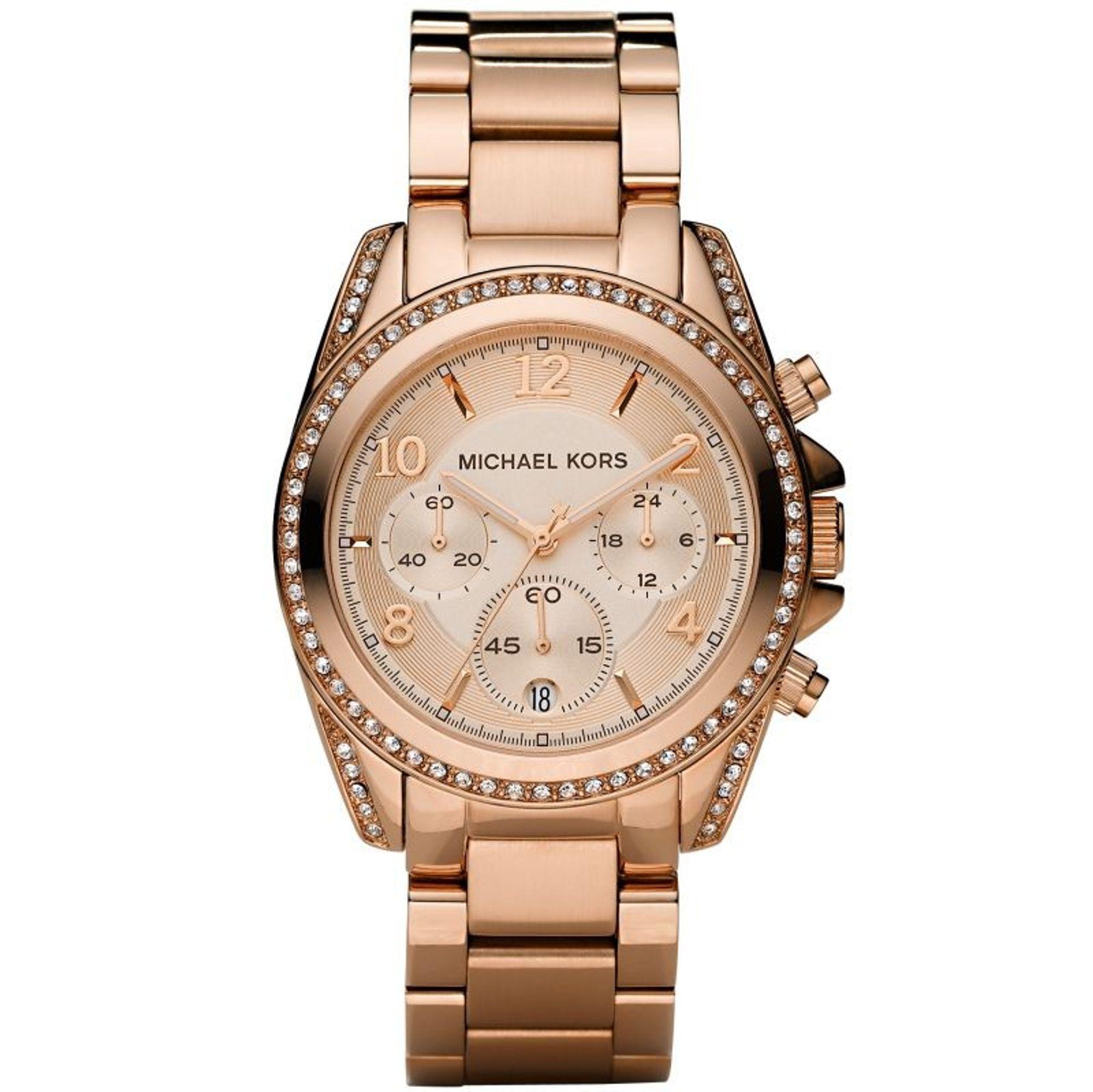 Michael Kors MK5263 BLAIR Chronograph Uhr Damenuhr Edelstahl rosé
