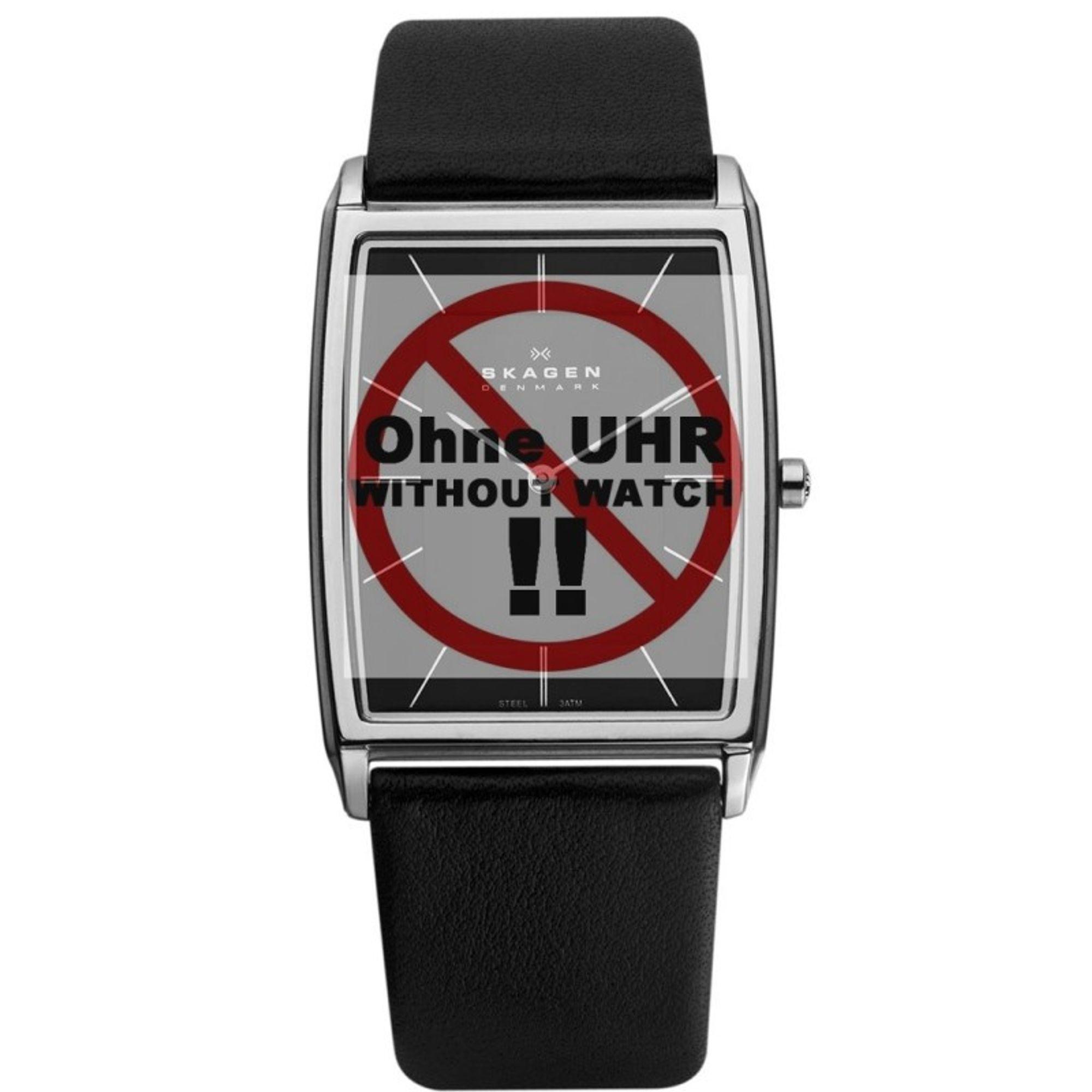 Skagen Uhrenarmband LB-857LSLB Original Ersatzband 24 mm Schwarz