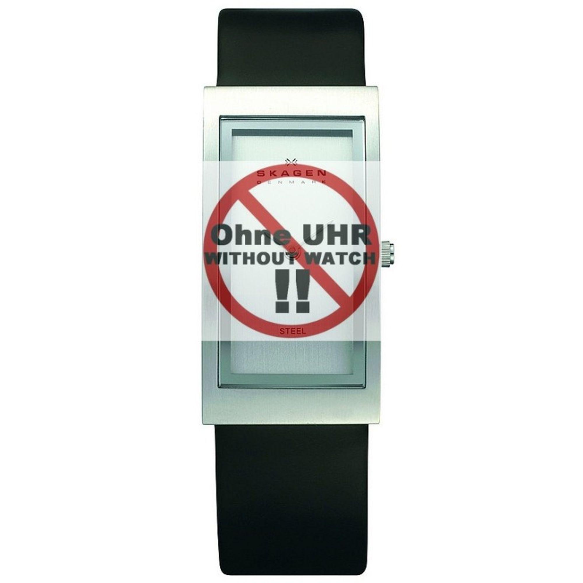 Skagen Uhrenarmband LB-359USLC Original Ersatzband 18 mm Schwarz