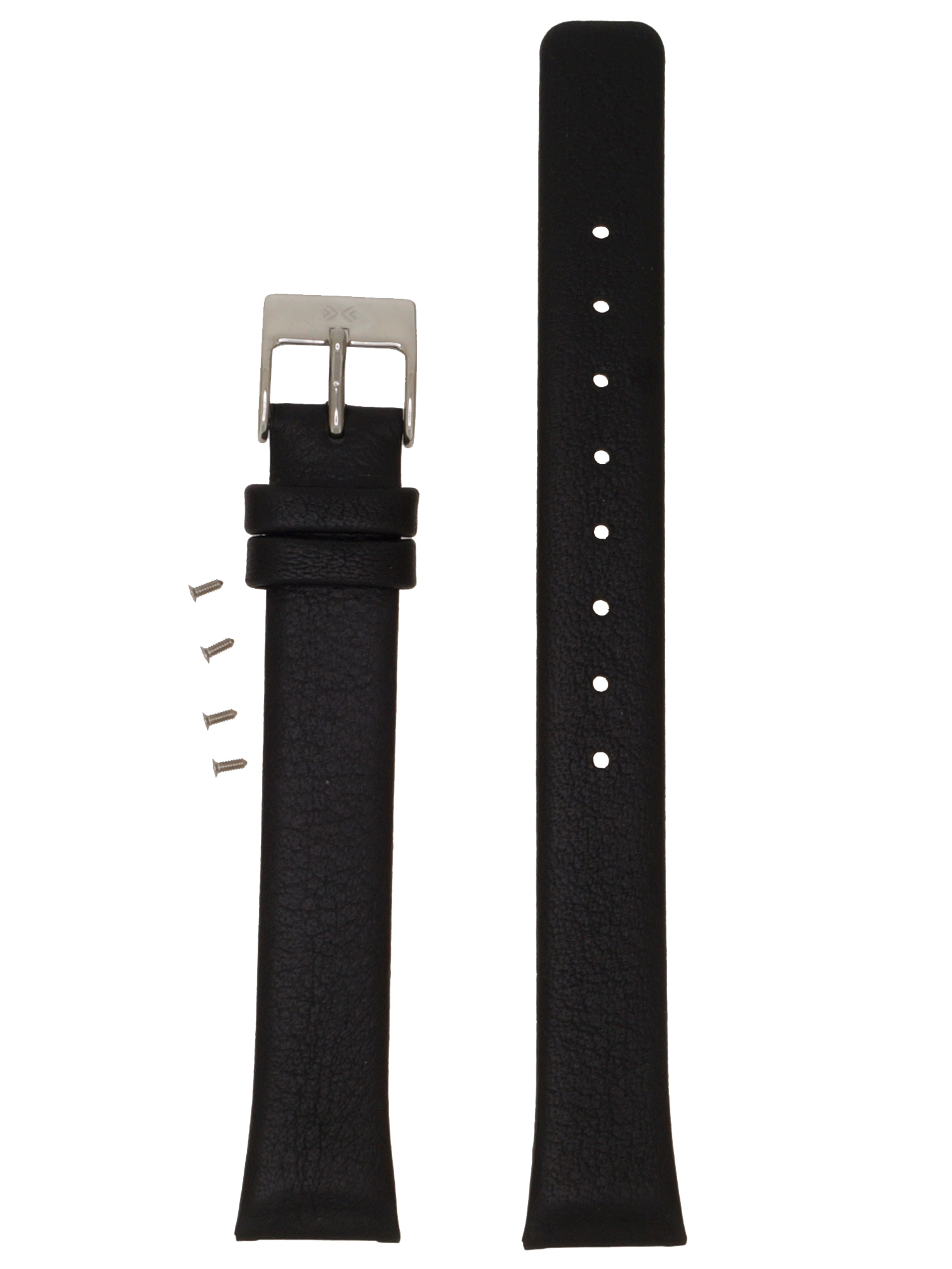 Skagen Uhrenarmband LB-812SSLB1 Original Ersatzband 15 mm Schwarz