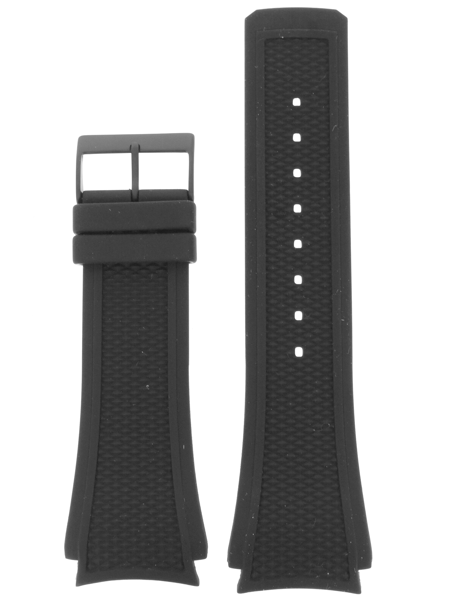 Skagen Uhrenarmband LB-435XXLTDRD Original Ersatzband 25 mm Schwarz