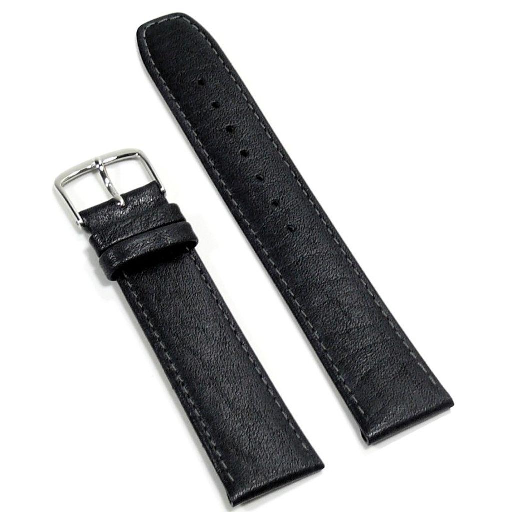 Condor Uhrenband 11820-20-10 Ersatzarmband 20 mm Kamelnarbung schwarz