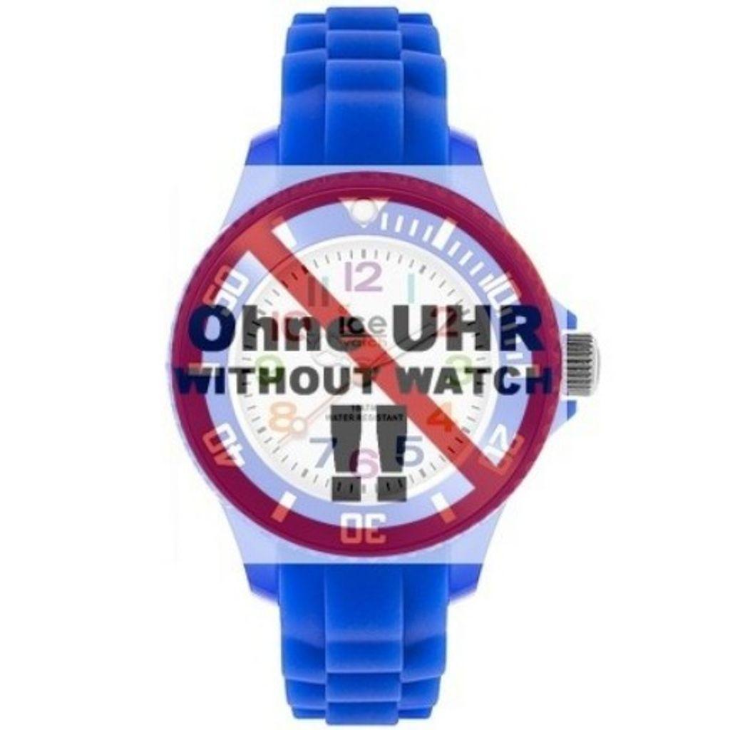 Ice-Watch Uhrenarmband LB-MN.BE.M.S.12 Silikon 12 mm Blau