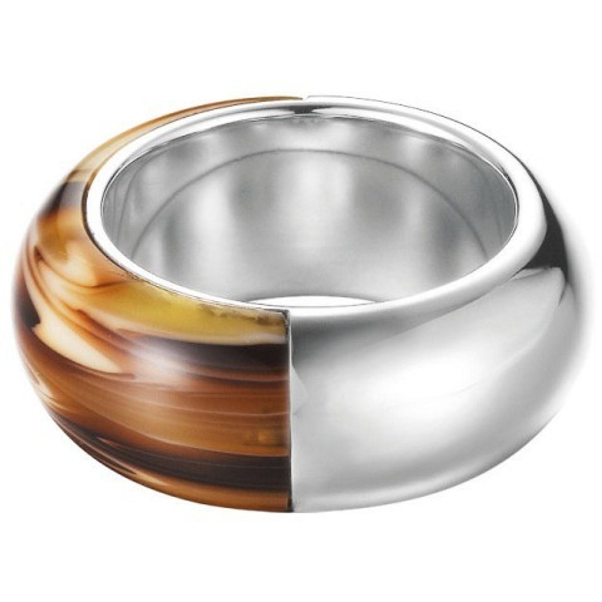 Esprit ESRG12153A Damen Ring tortoise light Stahl braun 50 (15.9)