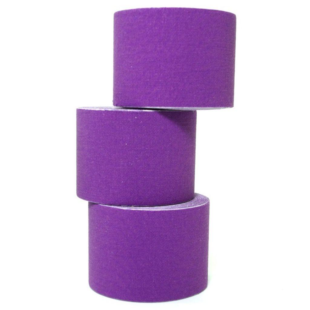 2 Rollen Kinesiologie Tape 5 m x 5,0 cm lila (EUR 0,899 / m)