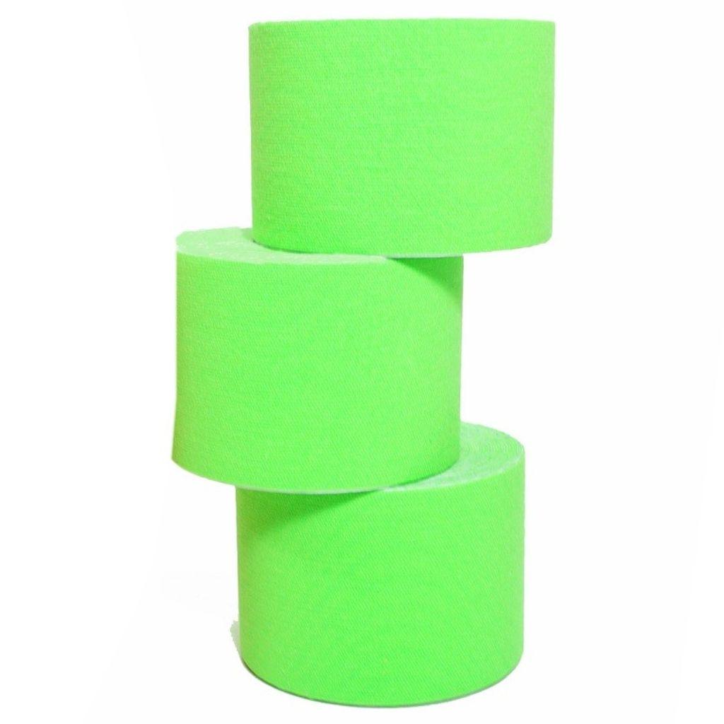 5 Rollen Kinesiologie-Tape 5 m x 5,0 cm grün (EUR 0,638 / m)