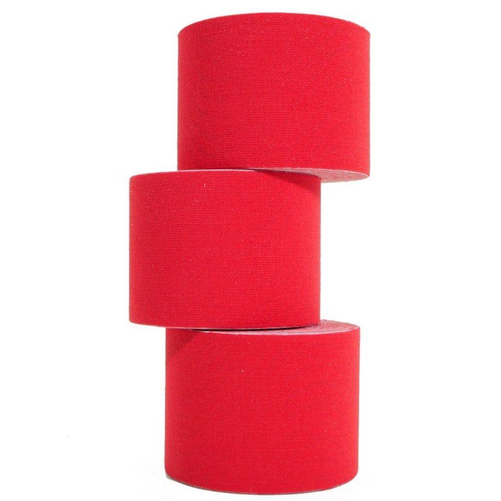 5 Rollen Kinesiologie-Tape 5 m x 5,0 cm rot (EUR 0,638 / m)
