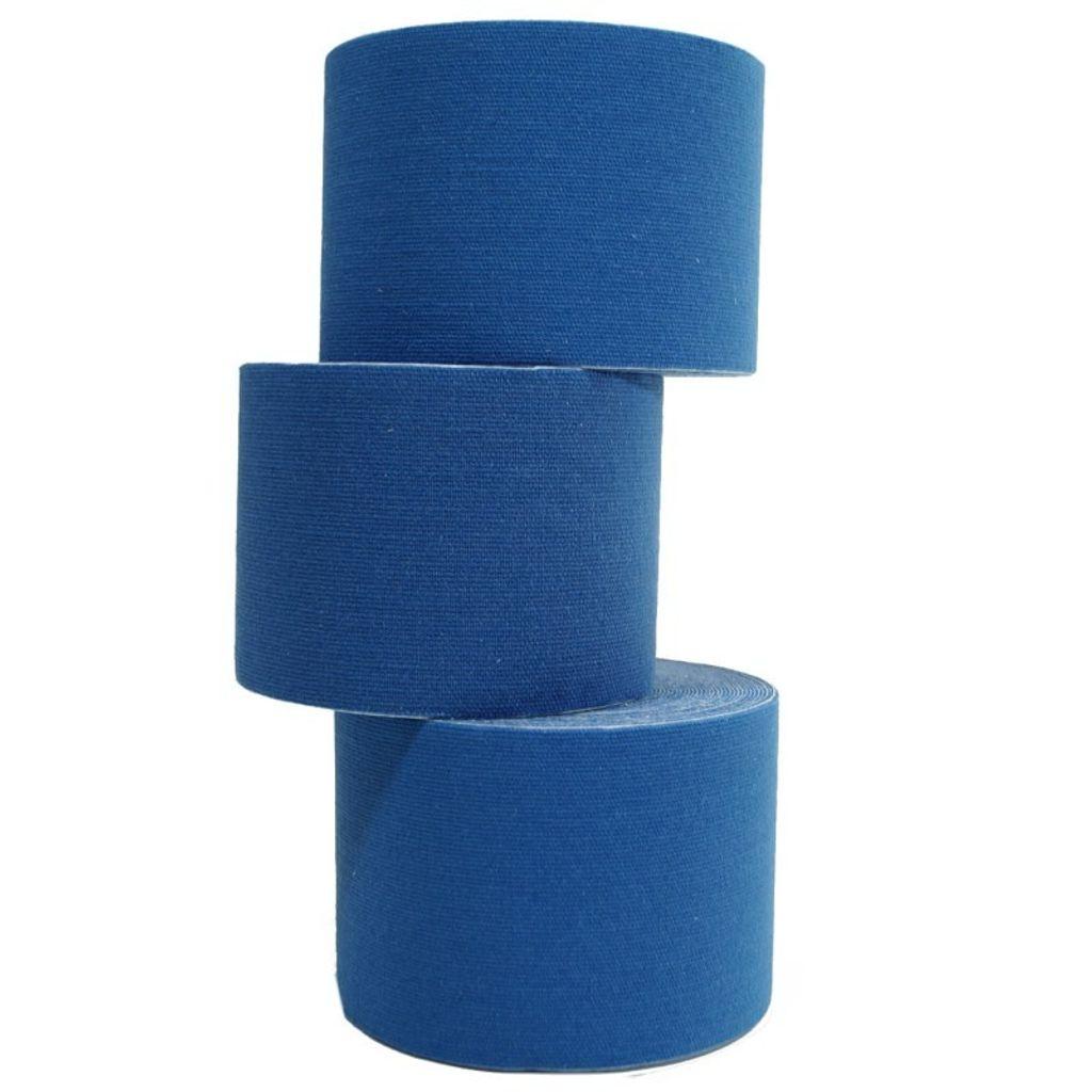 10 Rollen Kinesiologie Tape 5 m x 5,0 cm dunkelblau (EUR 0,6 / m)