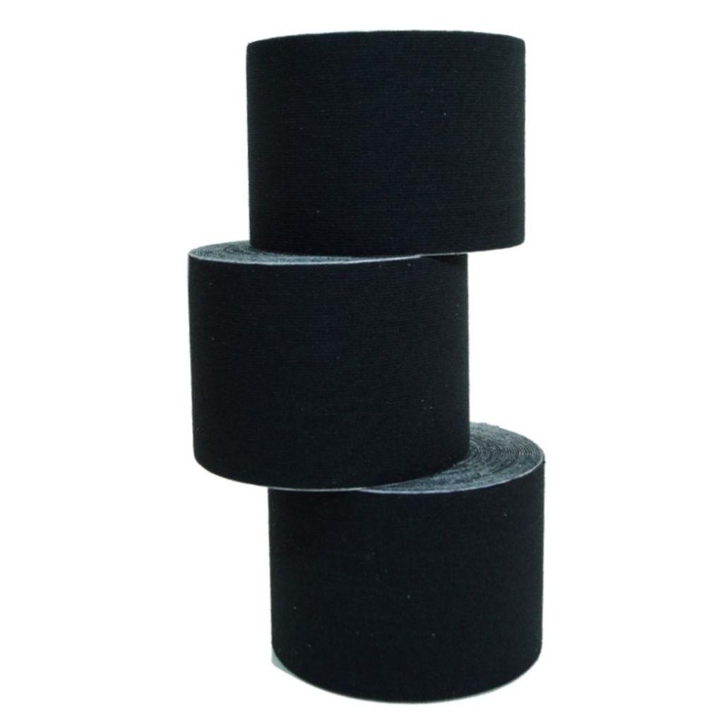 10 Rollen Kinesiologie-Tape 5 m x 5,0 cm schwarz (EUR 0,6 / m)