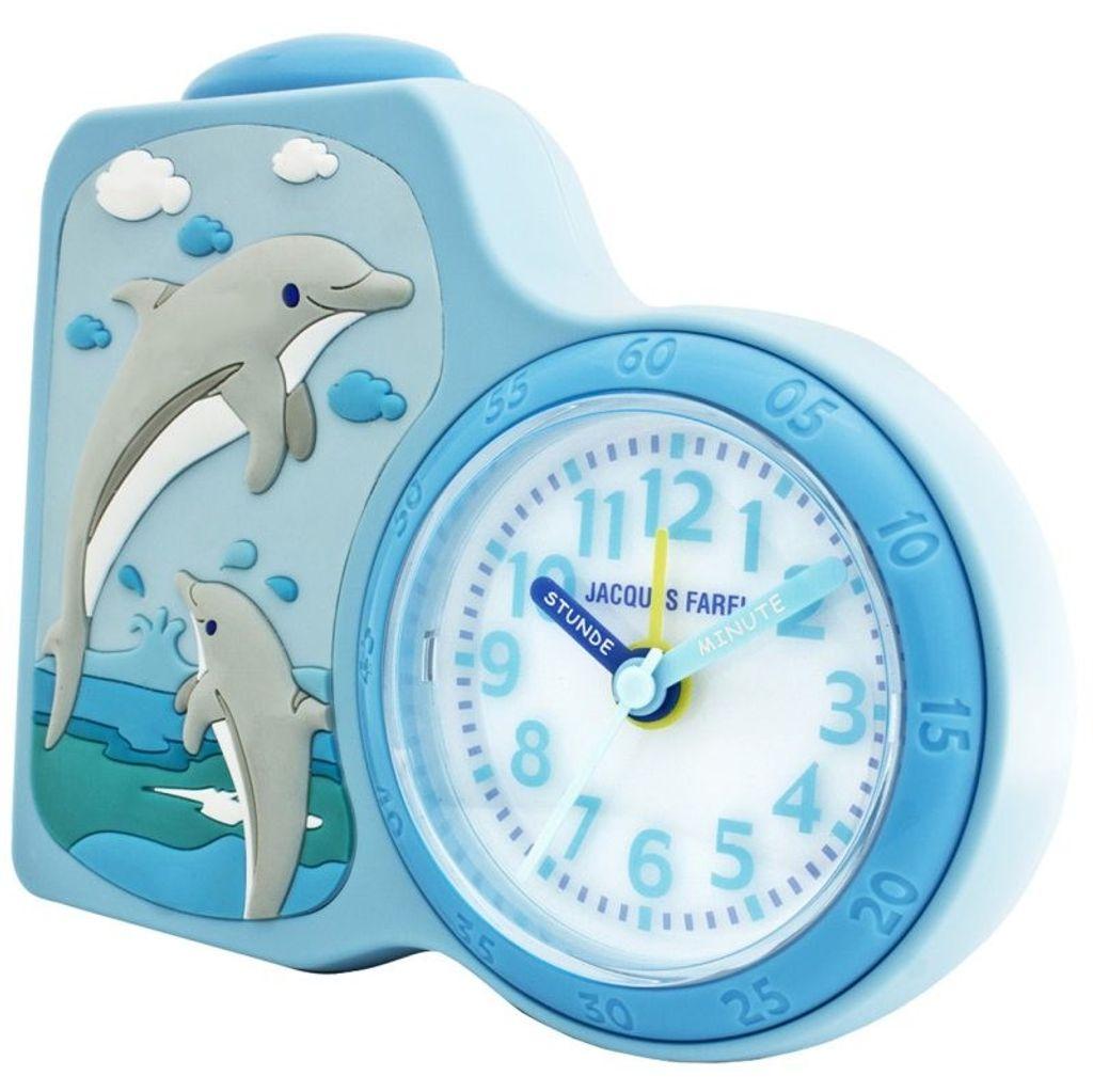 JACQUES FAREL ACB712DO-G Delfin Kinder Wecker