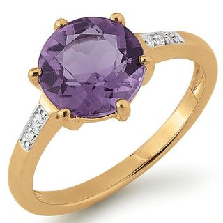 Golden Times 53GT114 Damen Ring Amethyst 14 Karat (585) Gold 56 (17.8) – Bild 1