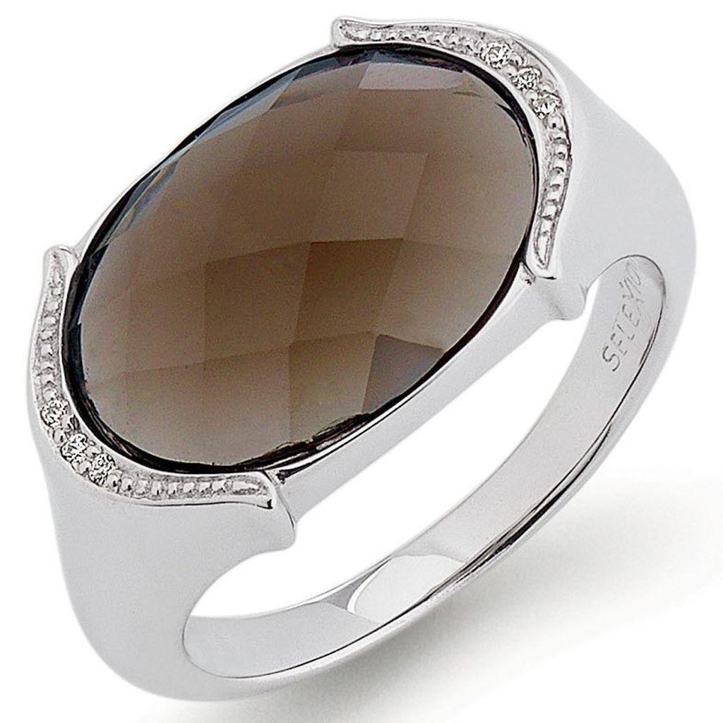 SELEXION 53EX749 Damen Ring Silber braun 54 (17.2)