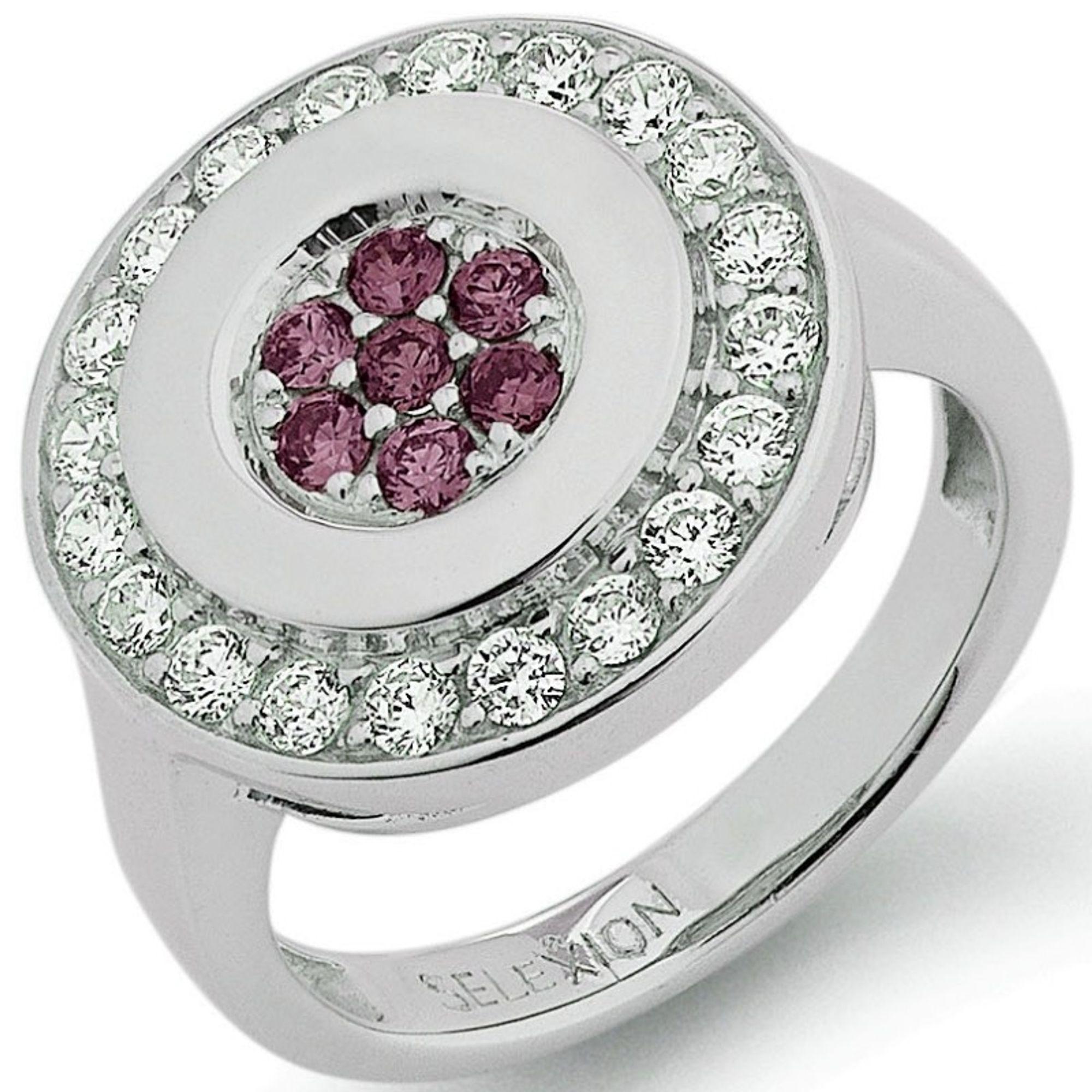SELEXION 53EX750 Damen Ring Silber lila 54 (17.2)