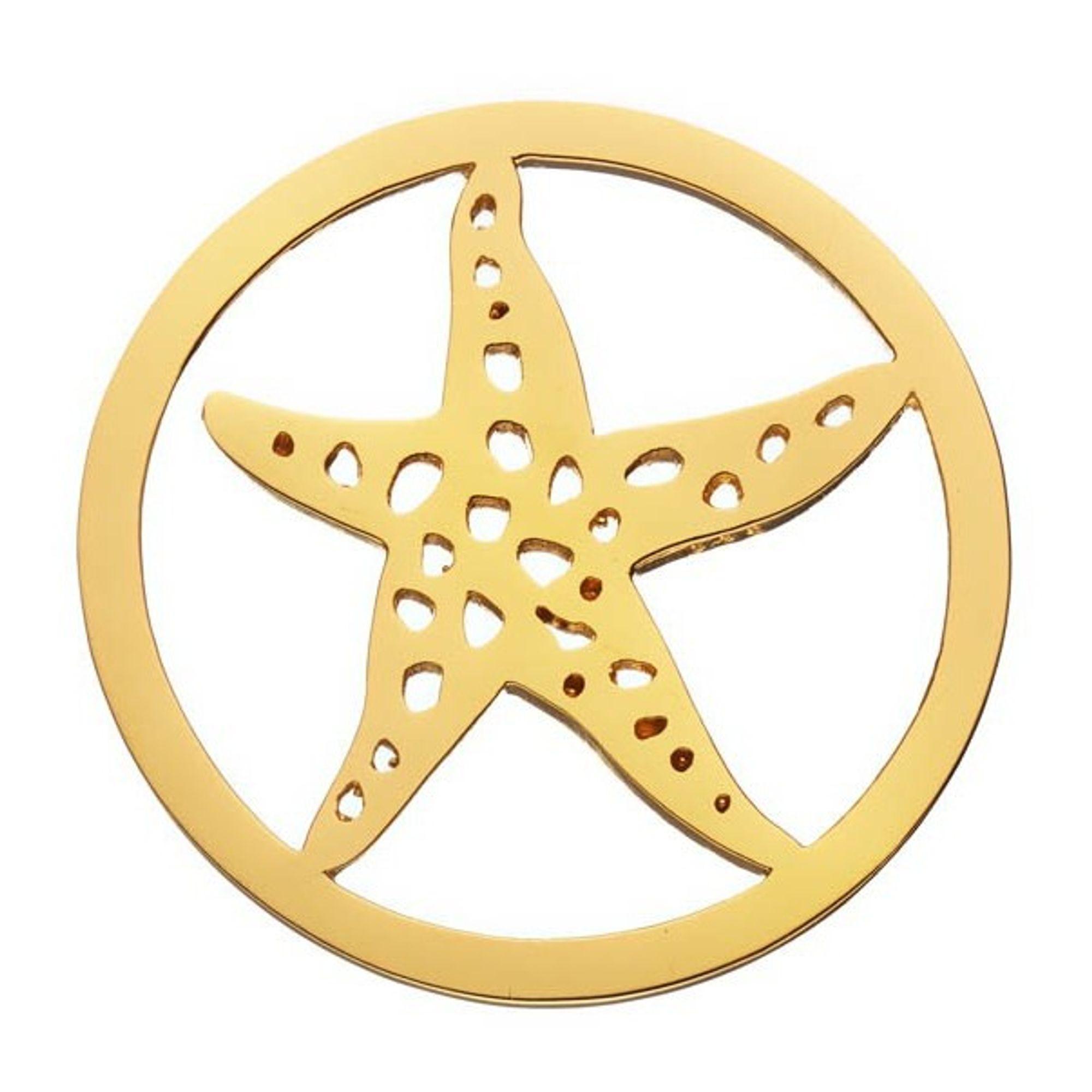 DAISY London HC2019 Münze Platte Seestern Starfisch Halo vergoldet