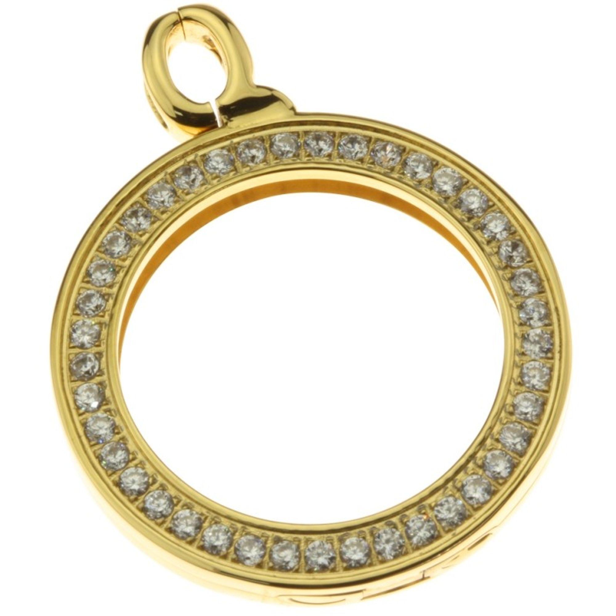 Quoins QHO-16L-G Damen Anhänger Rahmen gold large Edelstahl