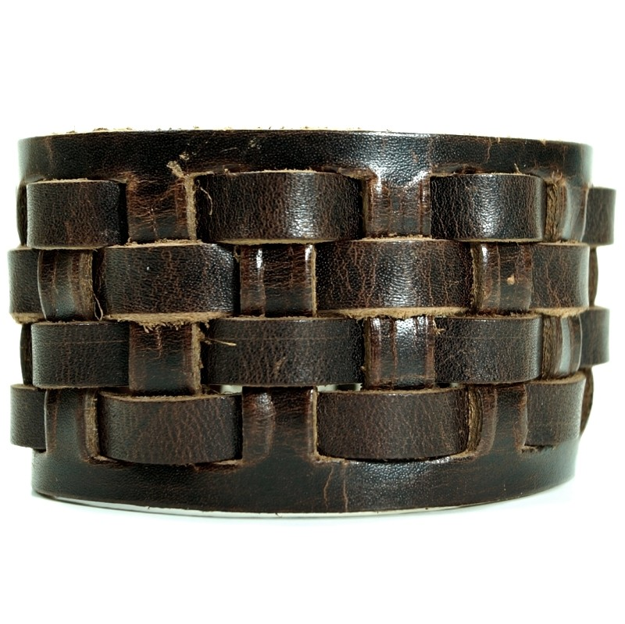 CJBB1951 Herren Armband Leder braun 20,5 cm