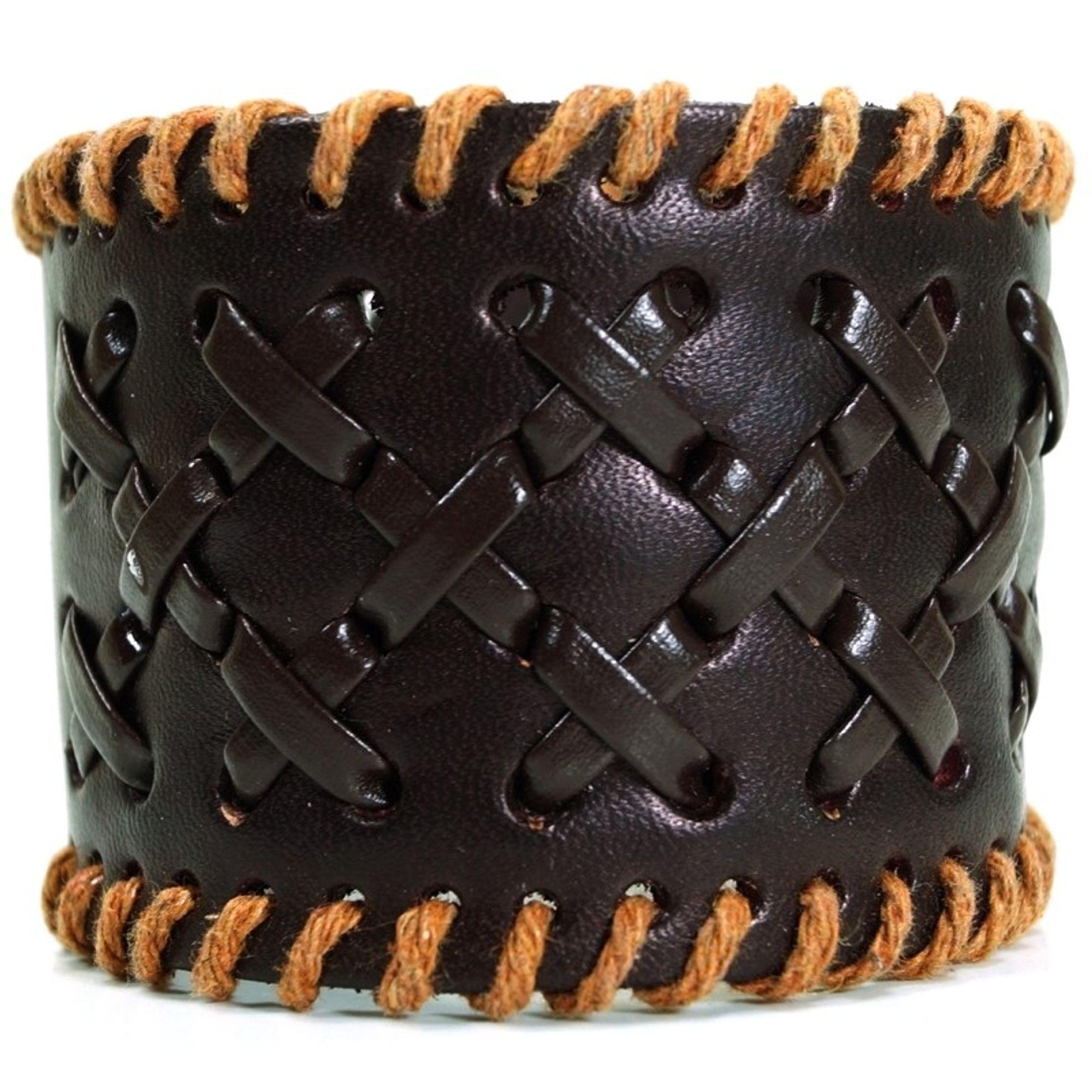 CJBB1920 Herren Armband Leder braun 21,5 cm