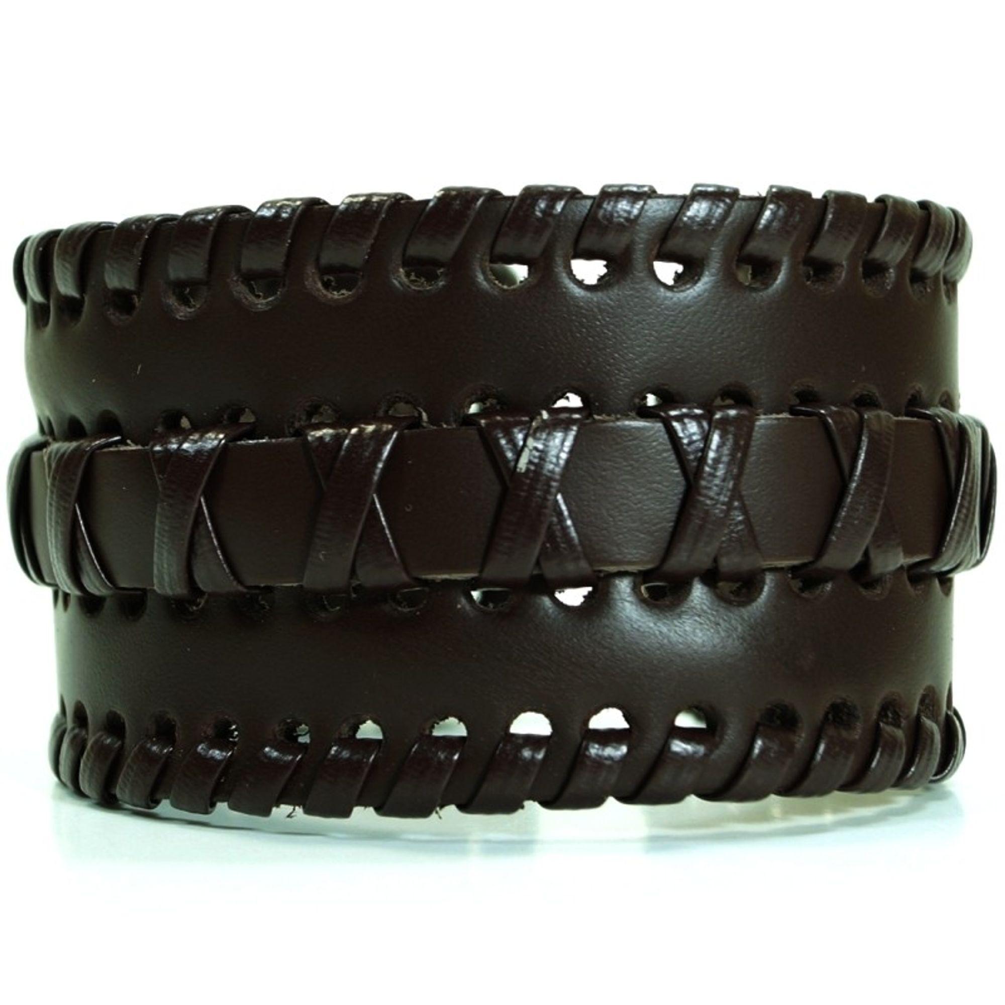 CJBB3990 Herren Armband Leder braun 23,5 cm