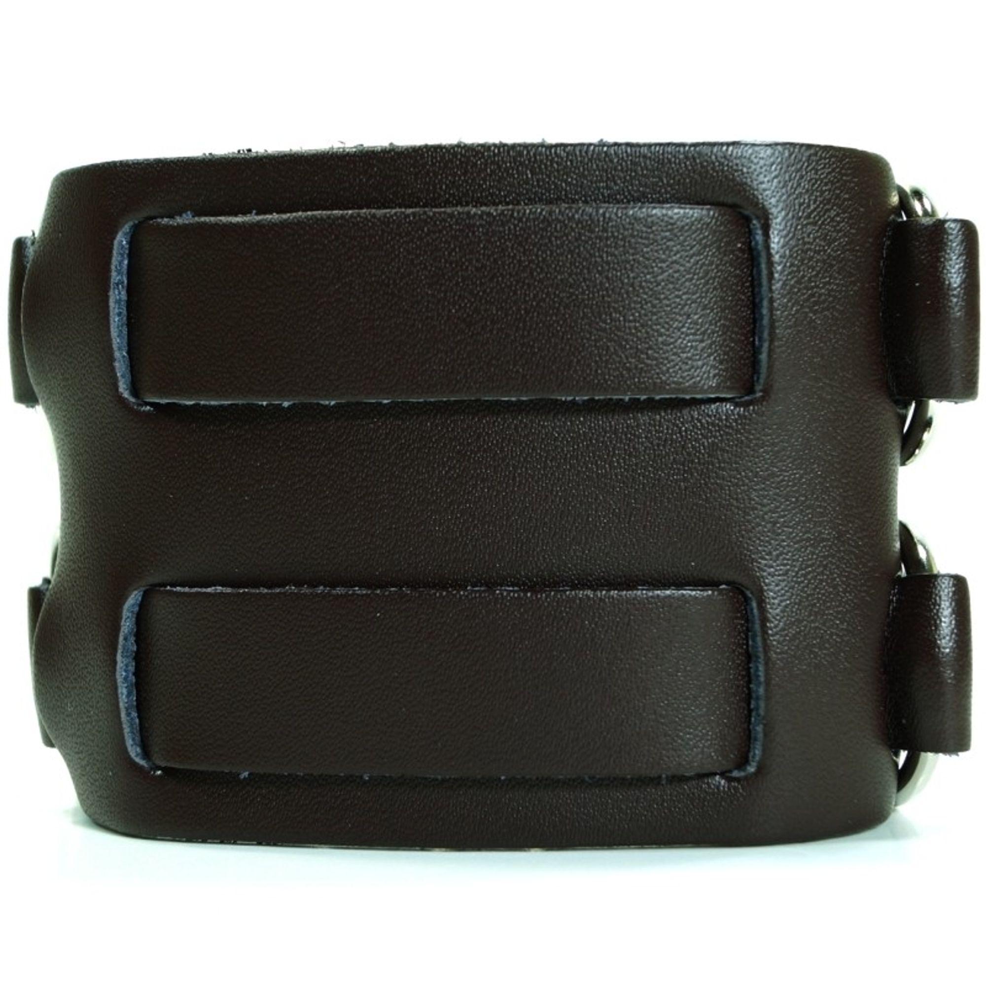 CJBB1913-2 Herren Armband Leder braun 22,5 cm