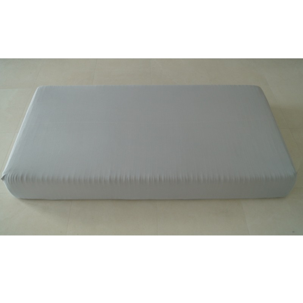 2er Pack Jersey Spannbettlaken Silber / 60 cm x 120 cm - 70 cm x 140 cm