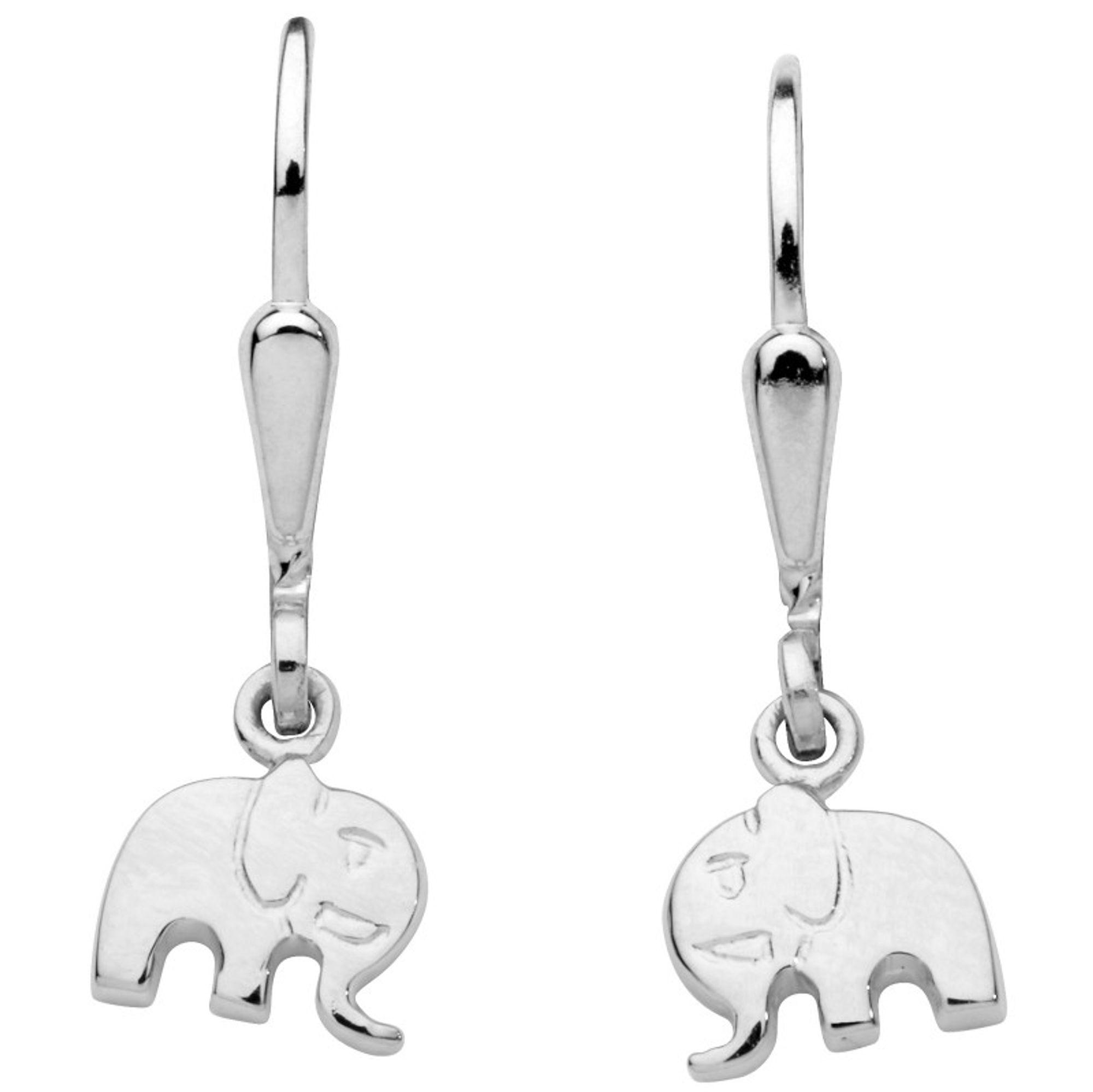 Basic Silber SK34 Kinder Ohrringe Elefant Silber Kinderschmuck
